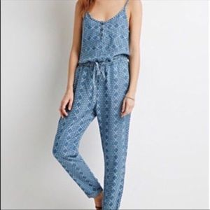 Life in Progress Chambray Jumpsuit Size L